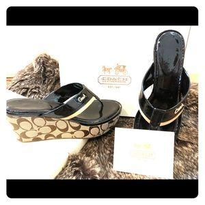 Gorgeous coach sandals